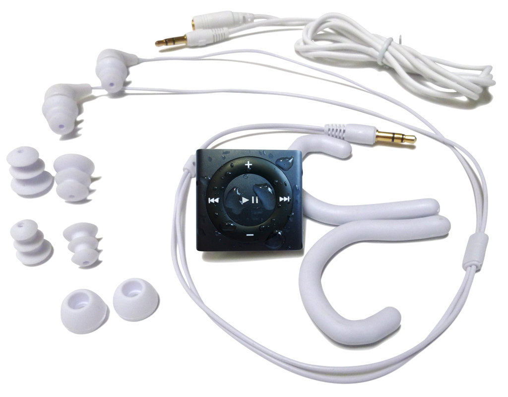 Underwater audio waterproof ipod swimbuds bundle blue