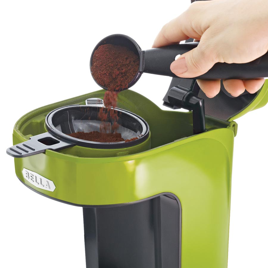 Bella Coffee Maker Filter Size : Amazon.com: BELLA 13784 One Scoop One Cup Coffee Maker, Lime Green: Single Serve Brewing ...