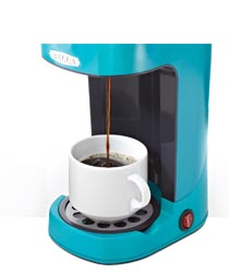Bella Coffee Maker Filter Size : Amazon.com: BELLA 13782 One Scoop One Cup Coffee Maker, Turquoise: Single Serve Brewing Machines ...