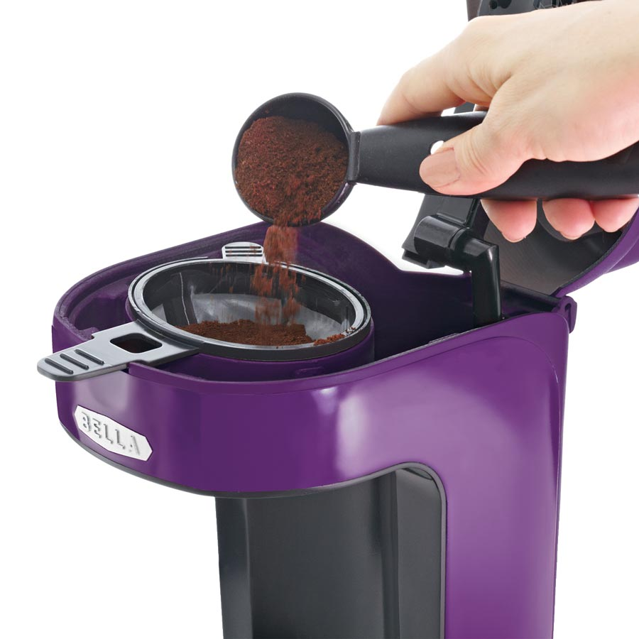 Bella One Cup Coffee Maker Kohl S : Amazon.com: BELLA 13783 One Scoop One Cup Coffee Maker, Purple: Single Serve Brewing Machines ...