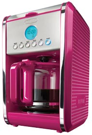 Amazon.com: BELLA 13839 Dots Collection 12-Cup Programmable Coffee Maker, Red: Kitchen & Dining