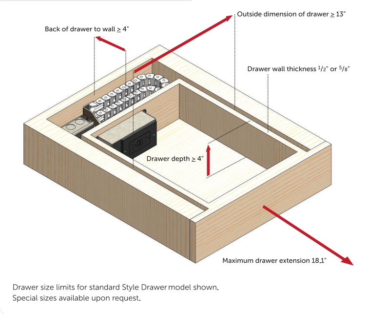com: Docking Drawer - In-Drawer Power Outlet 18 Inch: Home Improvement