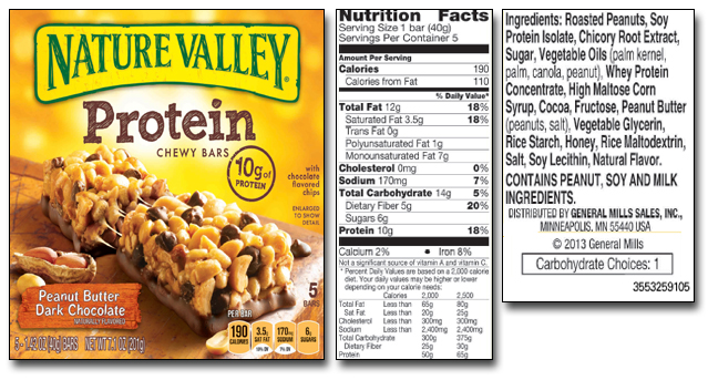 Nature Valley Dark Chocolate And Oats Nutrition Facts