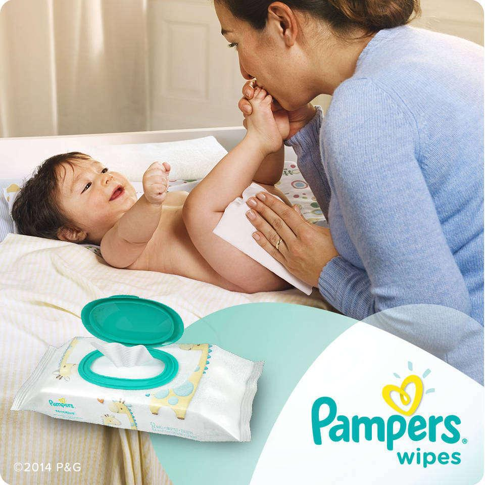 pampers sensitive wipes 13 pack 808 ct baby infant newborn diapers diaper child ebay. Black Bedroom Furniture Sets. Home Design Ideas