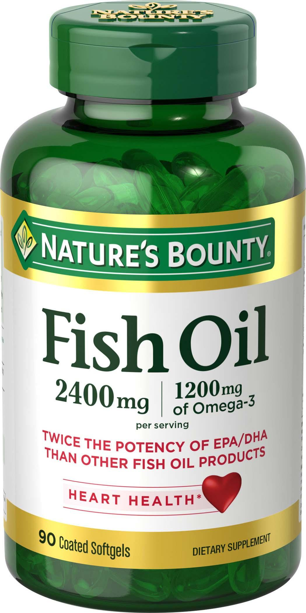 Nature 39 s bounty fish oil 2400 mg double for Fish oil pills for buttocks review