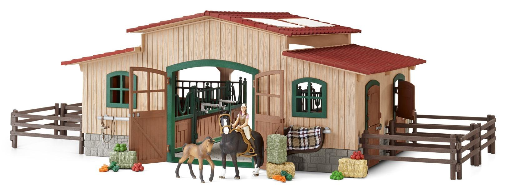 Amazon.com: Schleich Horse Stable with Accessories: Toys