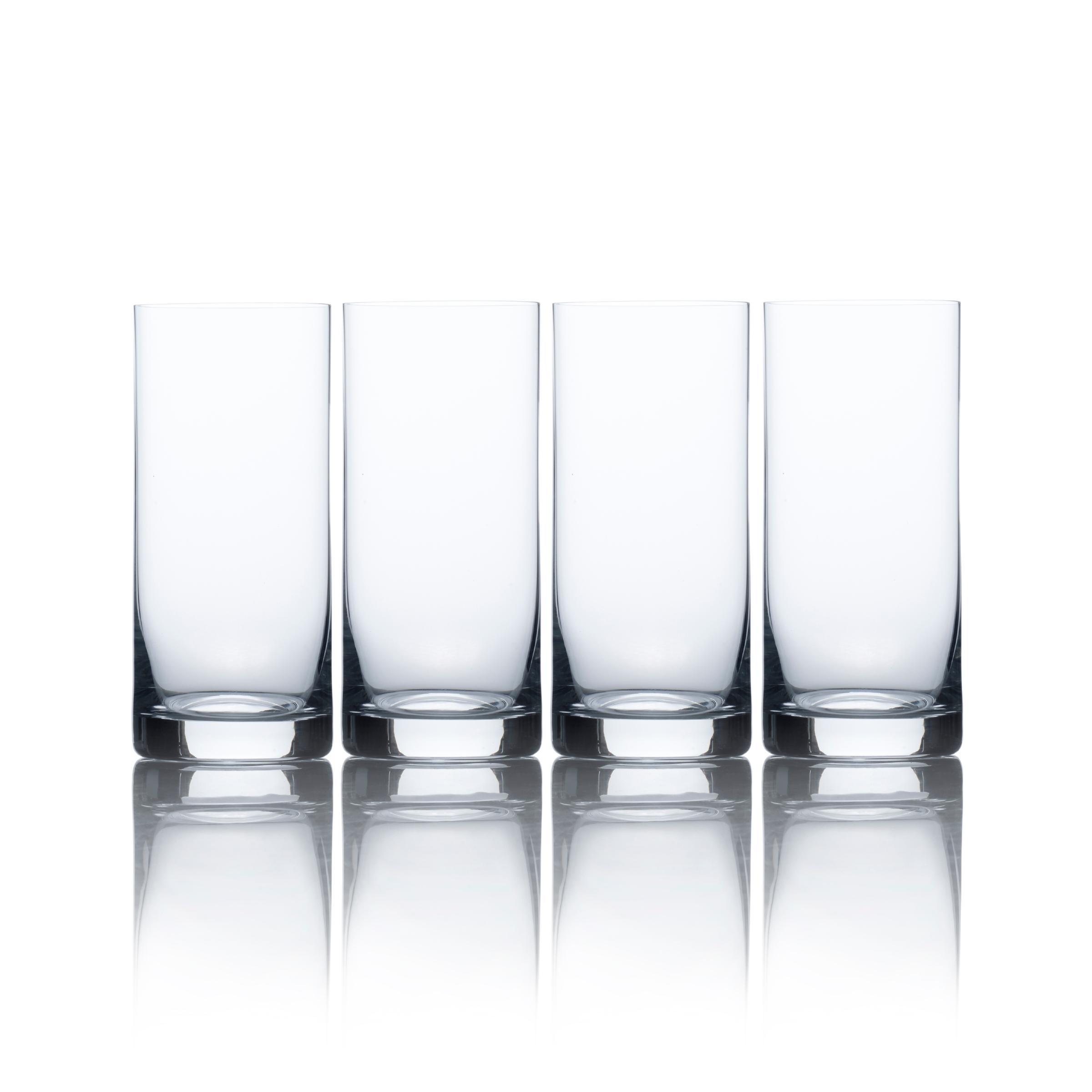 | Mikasa Laura High Ball Glass, 15-1/2-Ounce, Set of 4: Beer Glasses