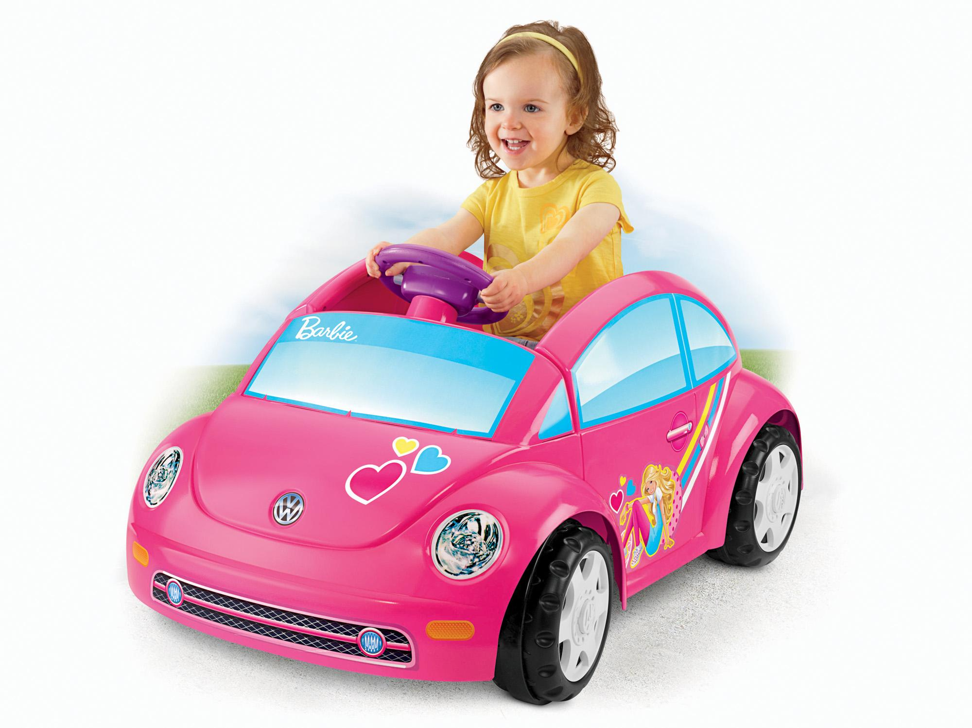 Fisher price power wheels barbie volkswagen for Fisher price motorized cars
