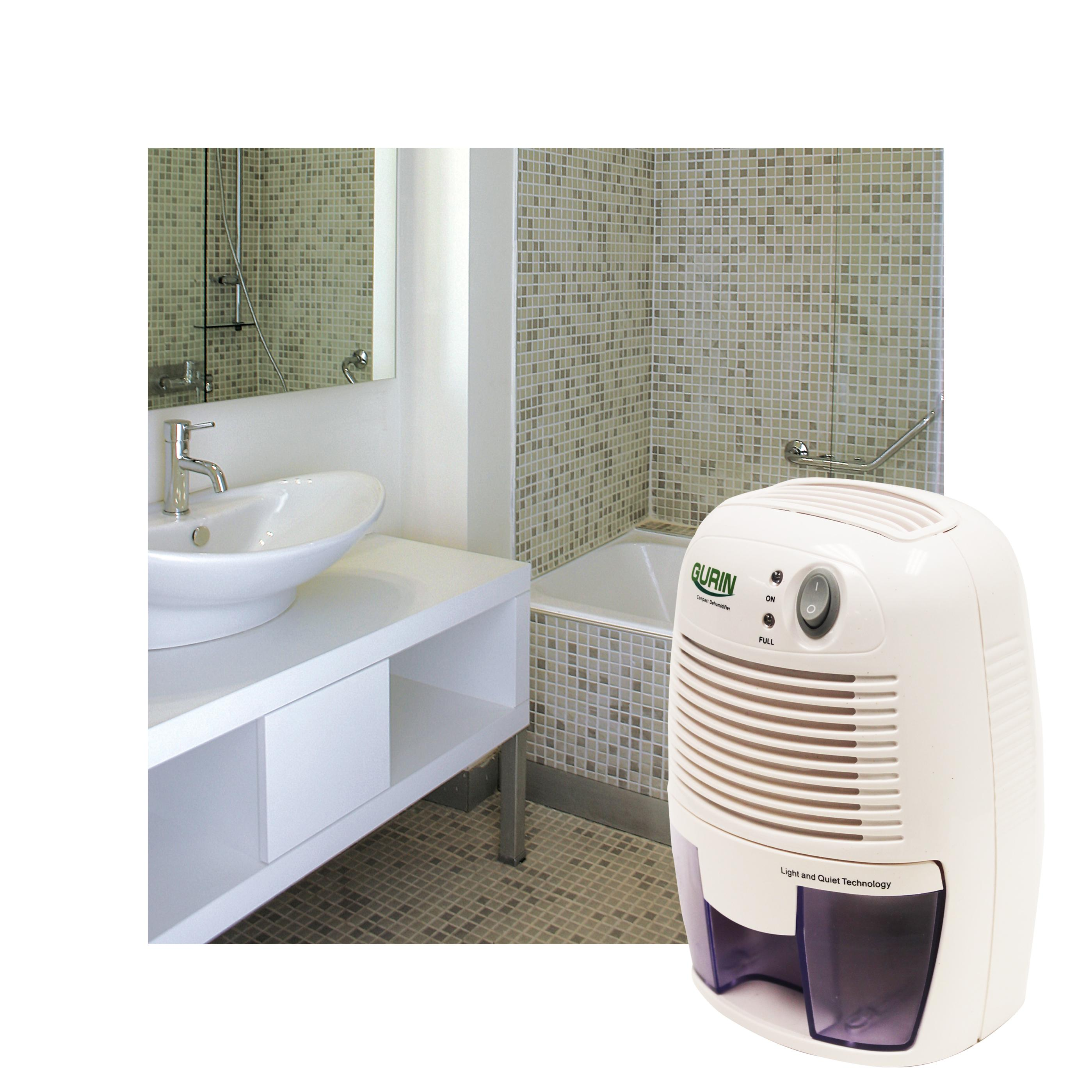 Gurin DHMD 210 Electric Compact Dehumidifier in Bathroom #756456