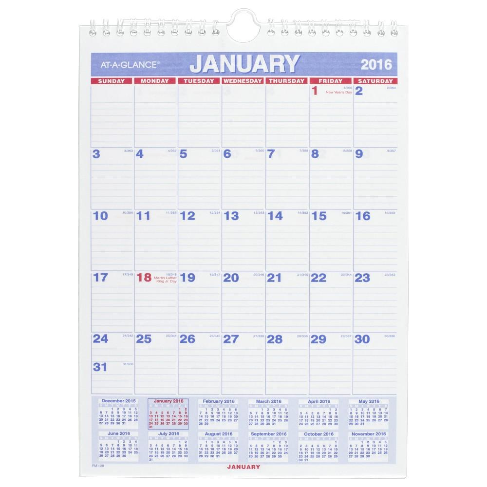 Monthly Wall Calendar : Amazon at a glance monthly wall calendar