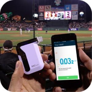 BACtrack Mobile at Baseball Game