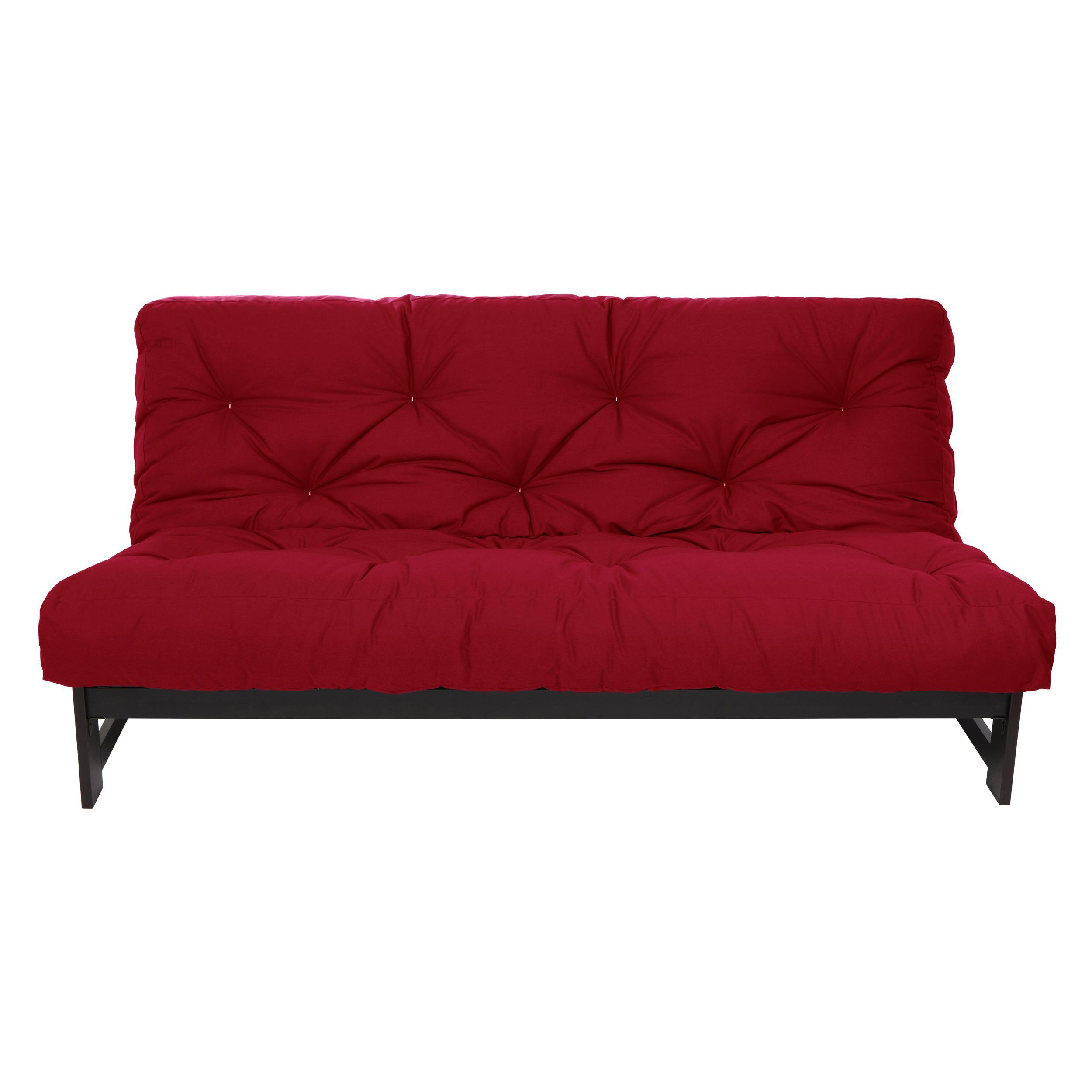 mozaic queen size 10 inch futon mattress red. Black Bedroom Furniture Sets. Home Design Ideas