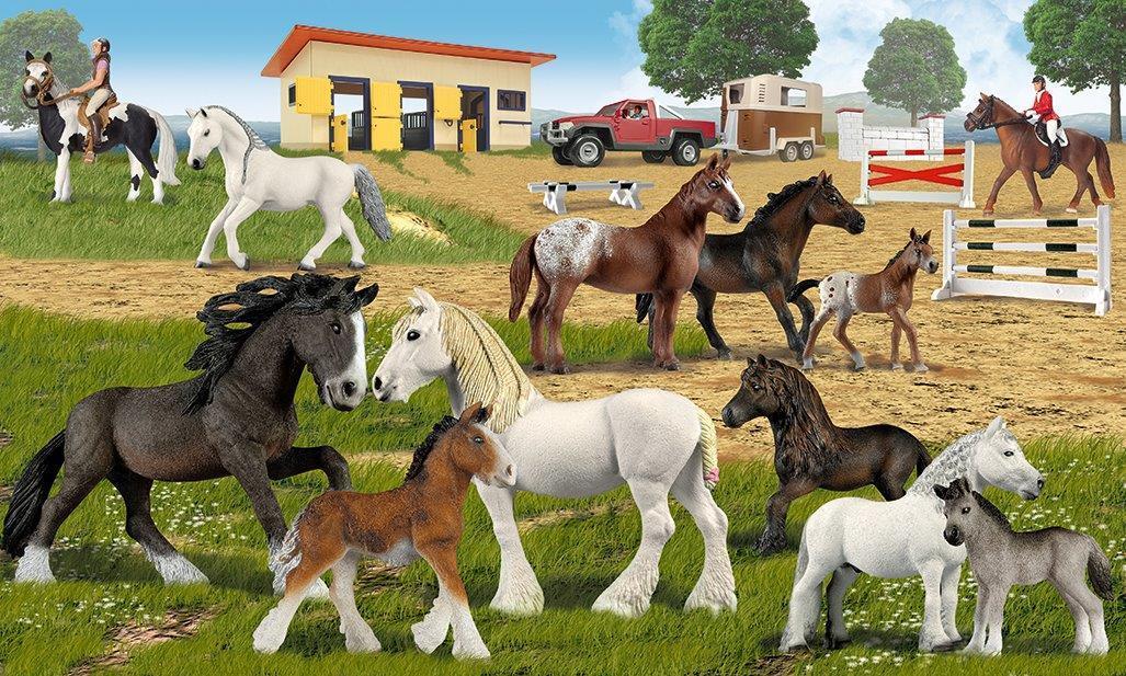 Amazon.com: Schleich Western Riding Set: Toys & Games
