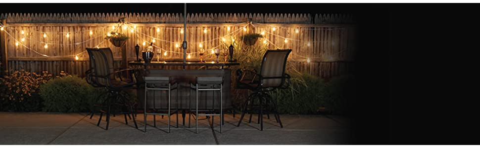 Vintage Backyard Lights : Luxury Living with BULBRITE Mini String Lights