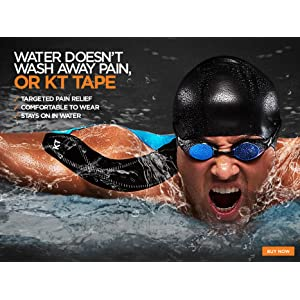 Waterproof Kinseology Tape Supports you in even the most wet conditions like swimming