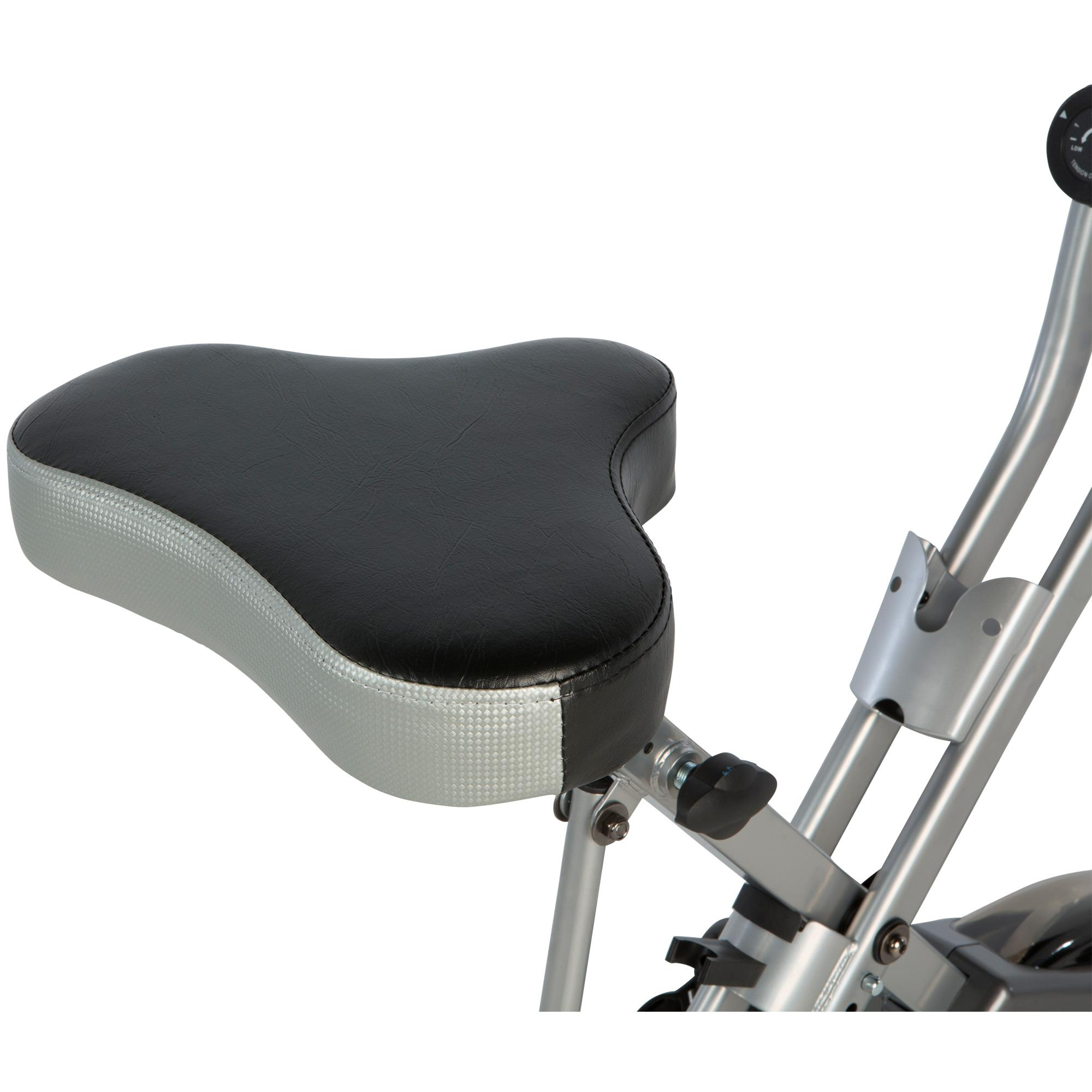 New Upright Exerpeutic Folding Magnetic Exercise Bike With Pulse