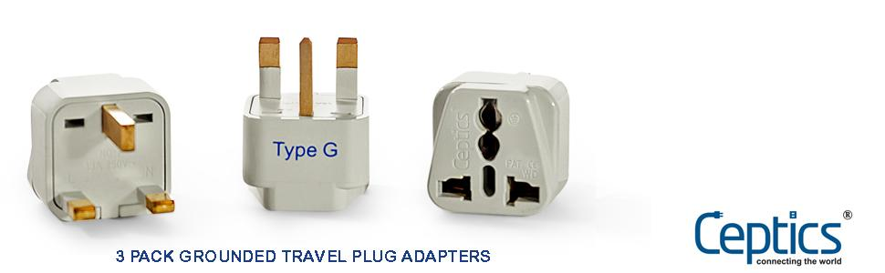 Grounded Type G Adapter