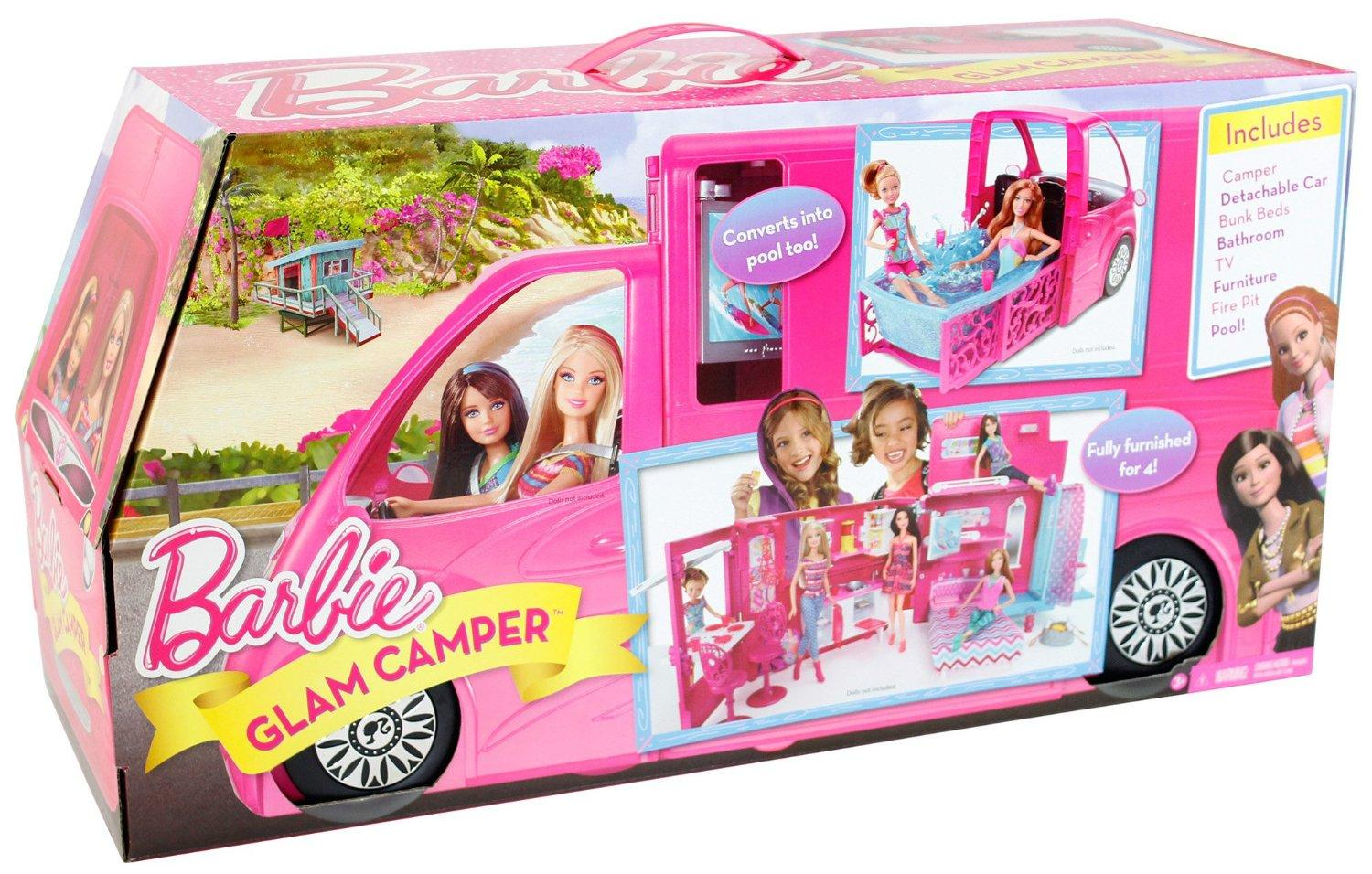 Mattel Barbie Sisters Doll Dream Life In The Dreamhouse Glam Camper With Pool Ebay