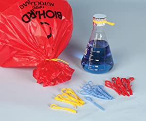 silicon loop ties, ties for biohazard bags, autoclavable bag ties