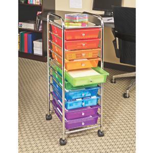 Amazon Com Seville Classics 10 Drawer Organizer Cart