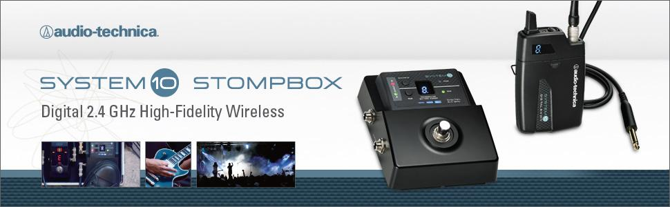 audio-technica, audio-technica wireless, audio-technica wireless microphones, system 10 stompbox
