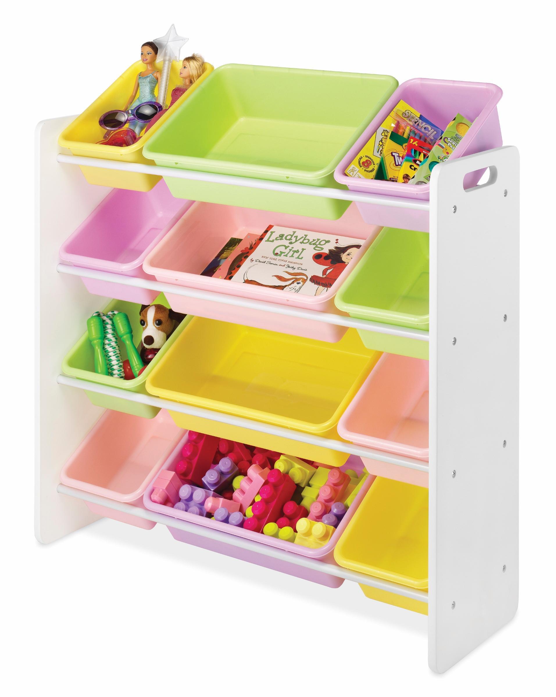Whitmor 6437-2554-DS 12 Bin Organizer, Pastel