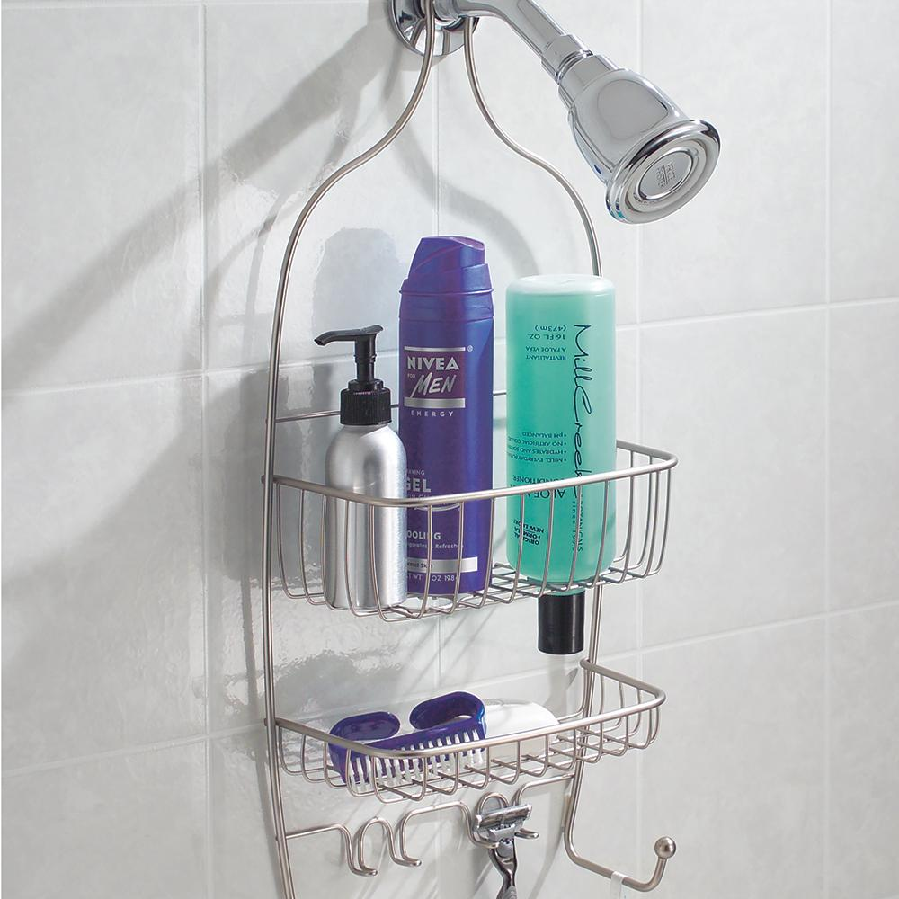 Non slip shower caddy family bathroom organizer shampoo for Bathroom bottles