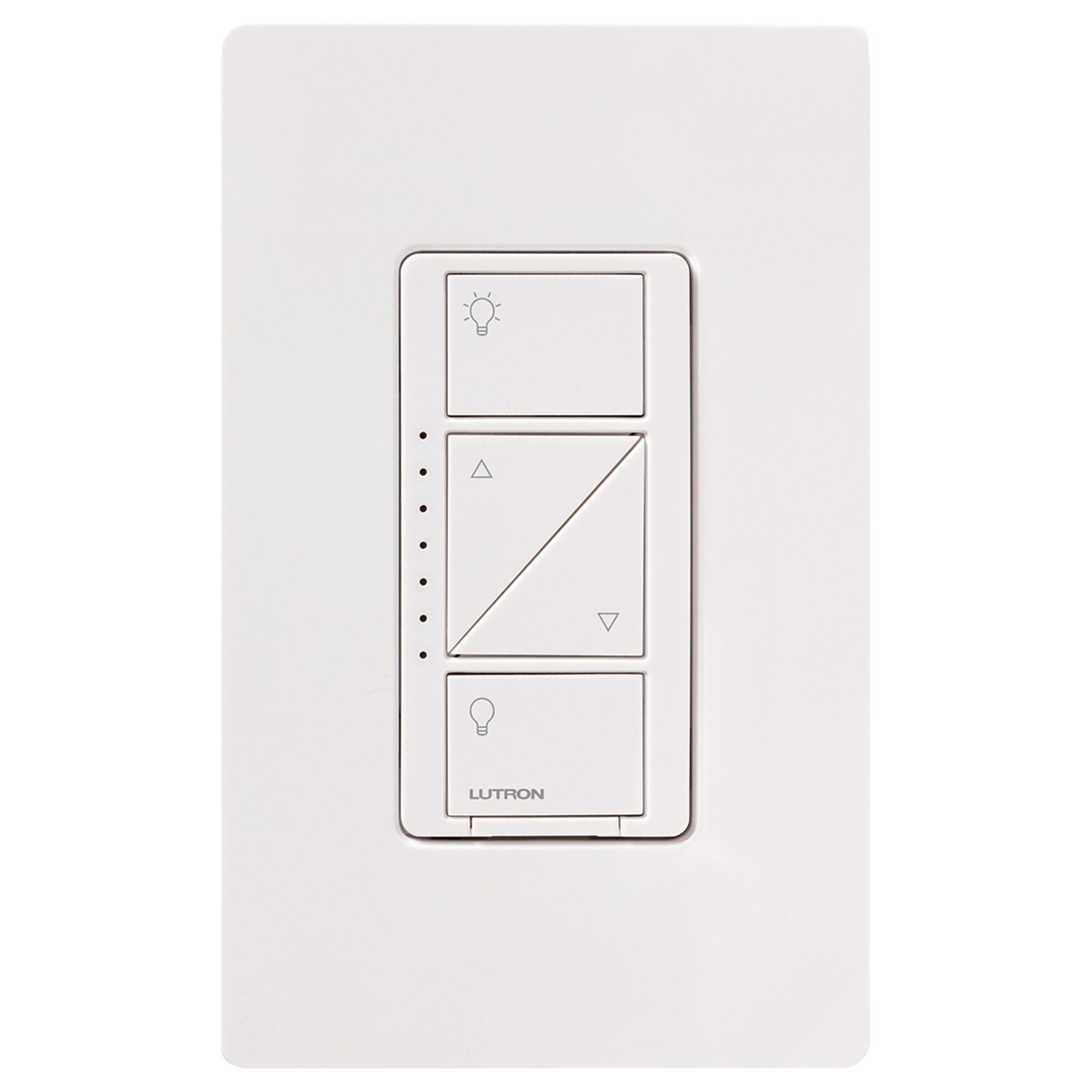 lutron p bdg pkg2w caseta wireless smart lighting in wall dimmer kit homekit enabled. Black Bedroom Furniture Sets. Home Design Ideas