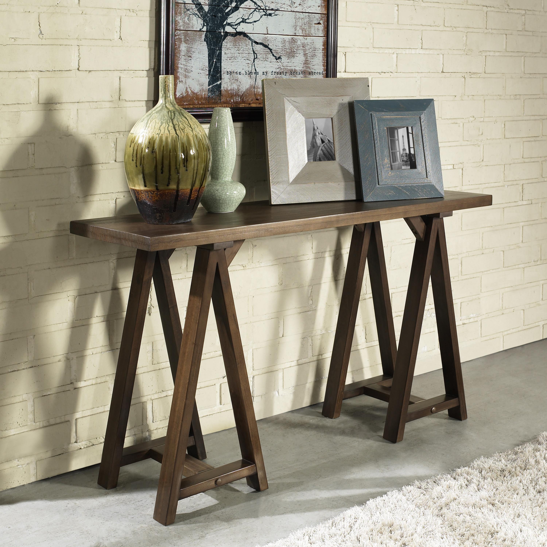 Simpli home sawhorse console sofa table - Sofas en esquina ...