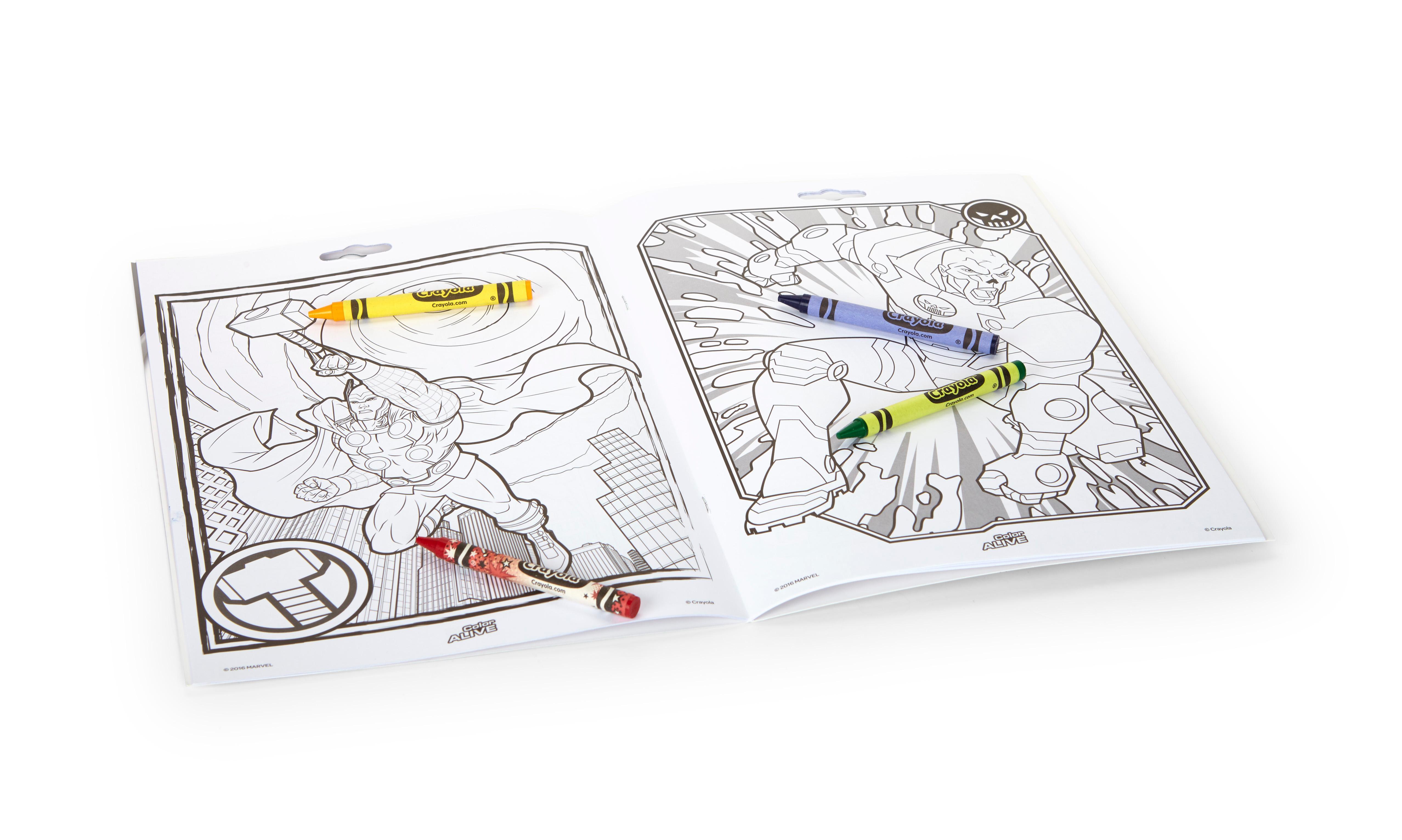 Amazon Crayola Avengers Color