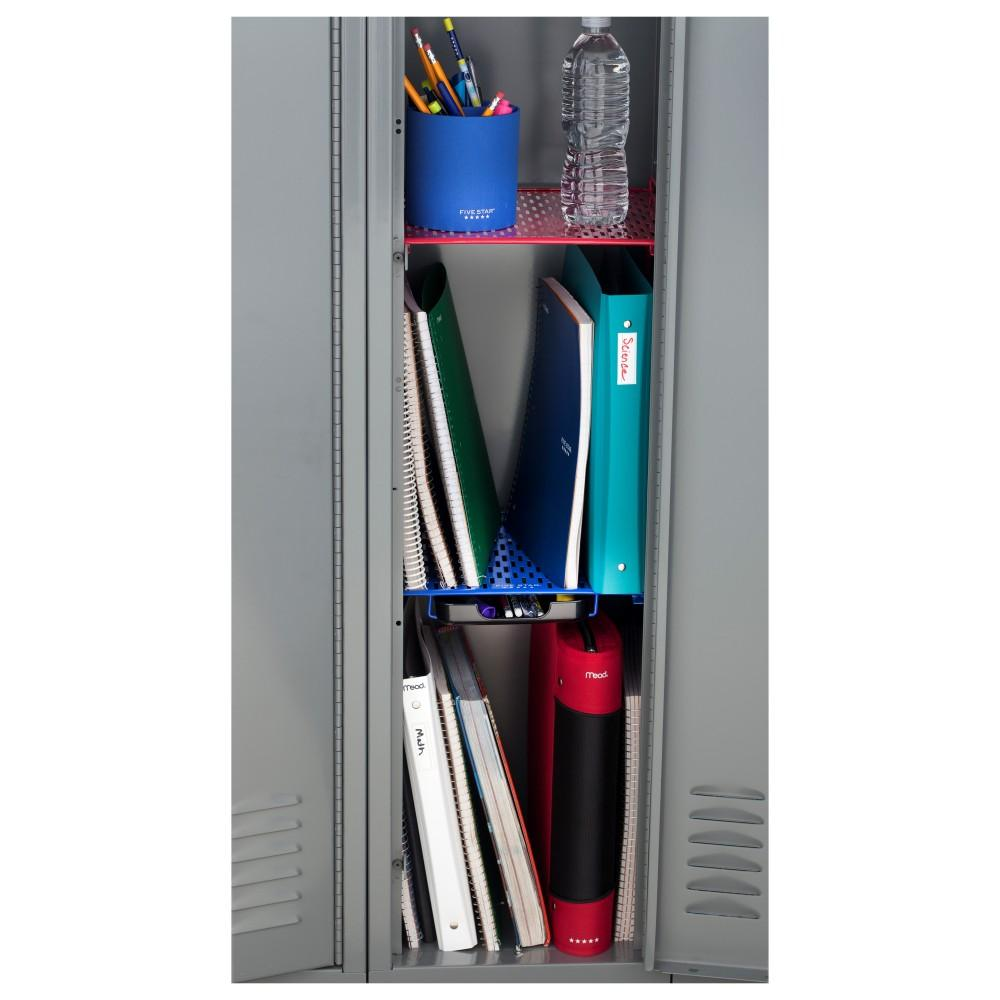 how to put shelves in locker