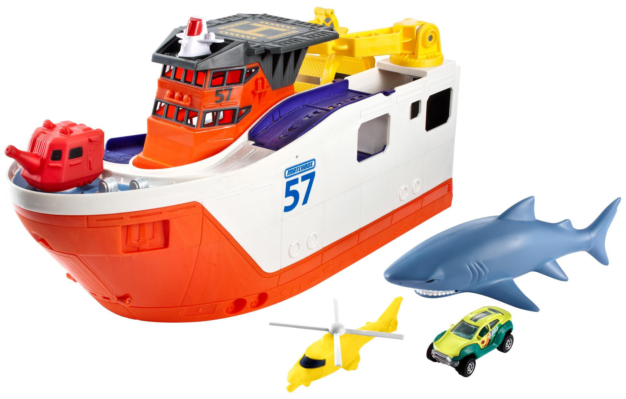 Shark Ship Toy : Matchbox mission marine rescue shark ship ebay
