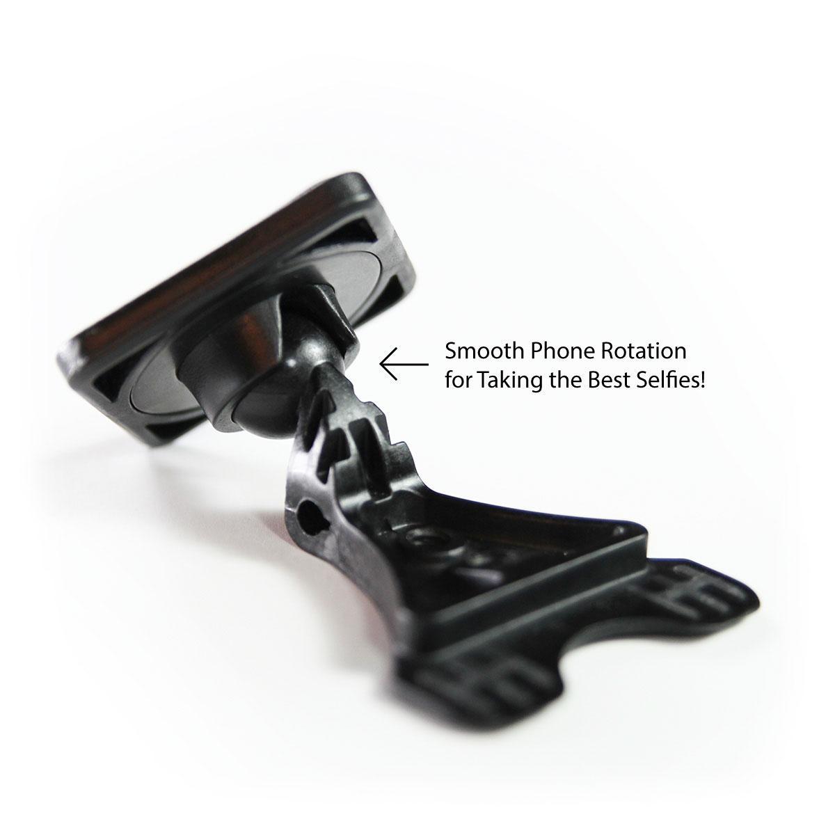 mountek magnetic selfie stick adapter with rotational ball joint. Black Bedroom Furniture Sets. Home Design Ideas