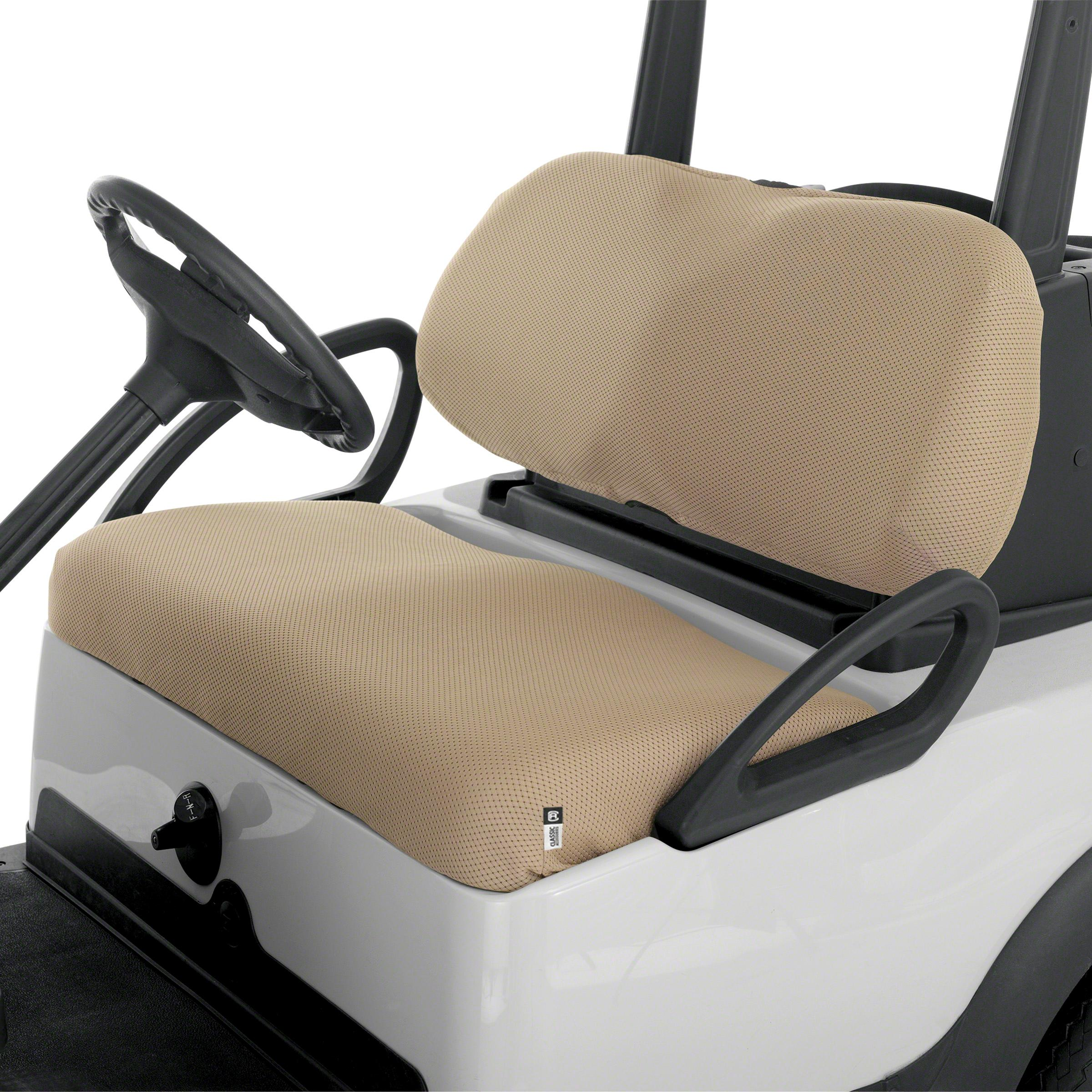 classic accessories fairway golf cart diamond air mesh bench seat cover khaki. Black Bedroom Furniture Sets. Home Design Ideas