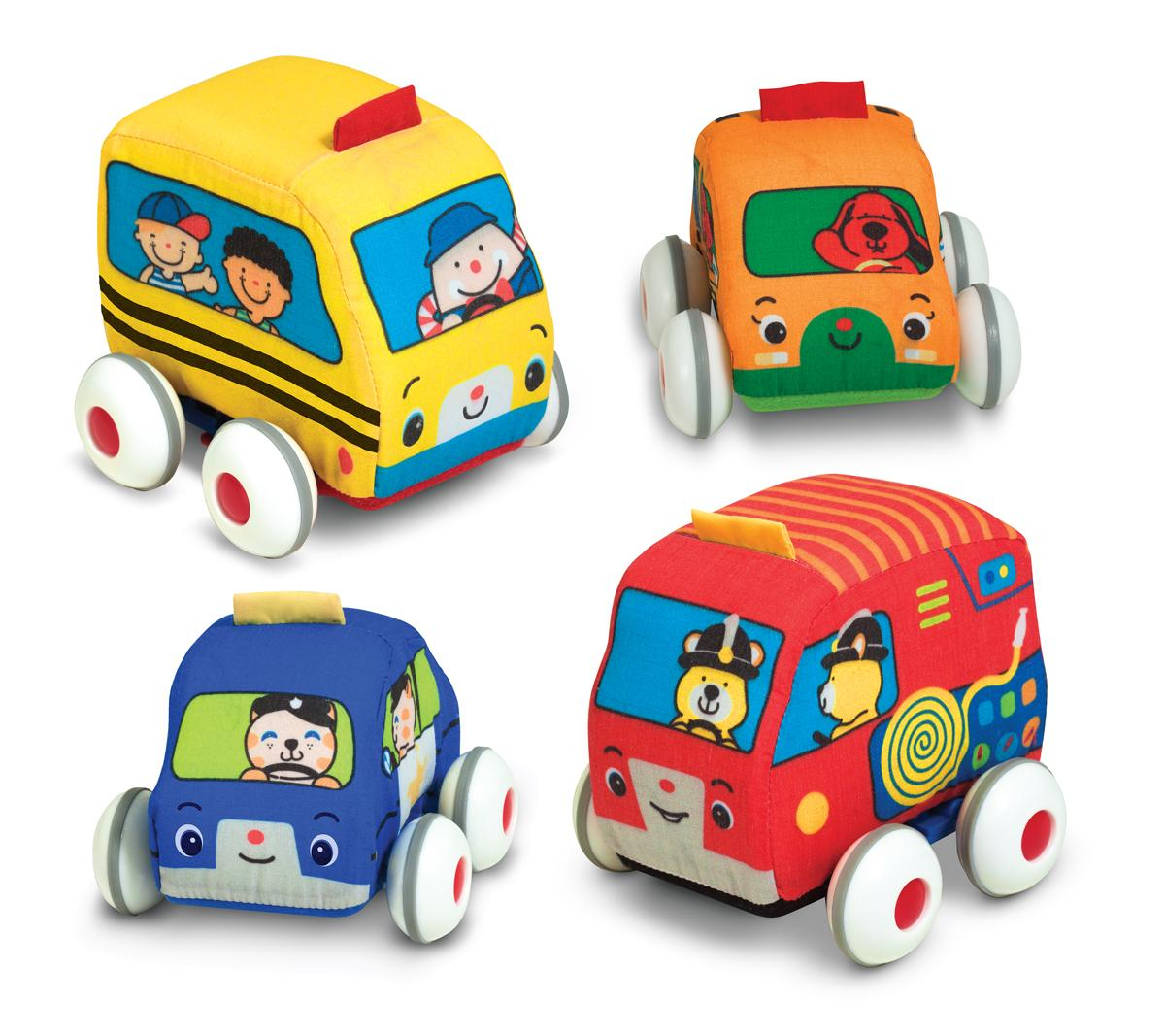 Amazon.com: Melissa & Doug K's Kids Pull-Back Vehicle Set: Melissa