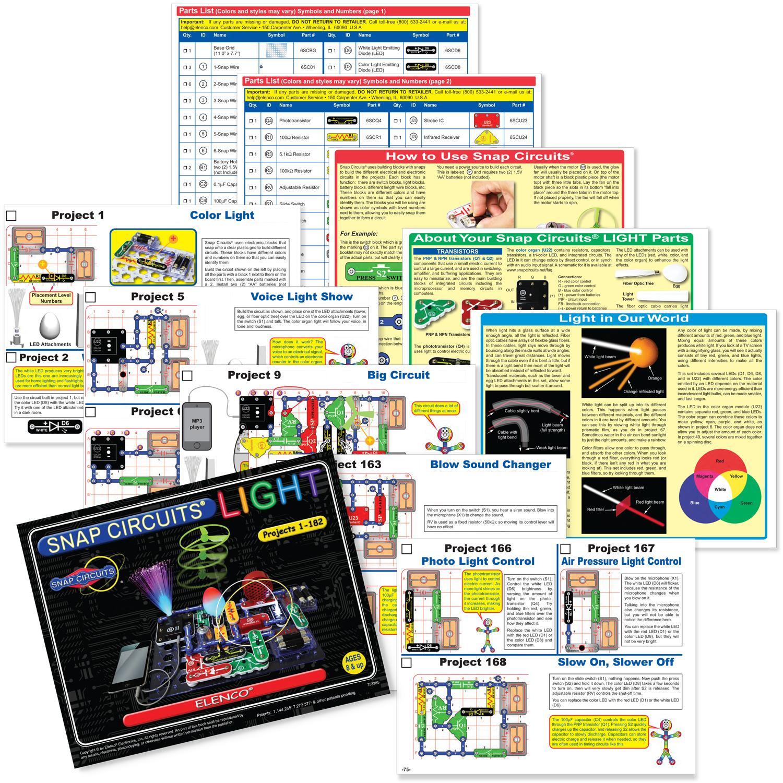 Amazon Com Snap Circuits Lights Electronics Discovery Kit