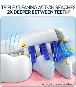 oral b, oral b toothbrush, toothbrush, clean teeth, cleaner teeth
