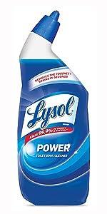 Lysol toilet bowl cleaner, mold, mildew, kills germs, bacteria, salmonella, e-coli