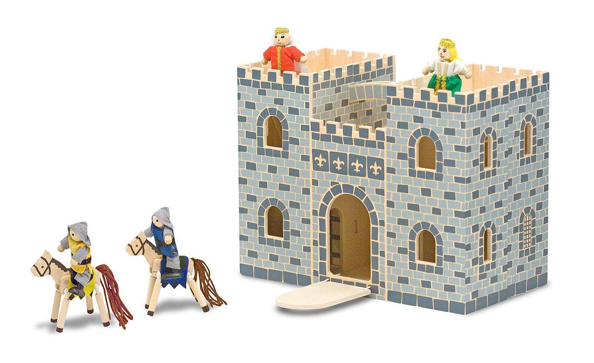 Amazon.com: Melissa & Doug Fold & Go Wooden Castle: Melissa & Doug