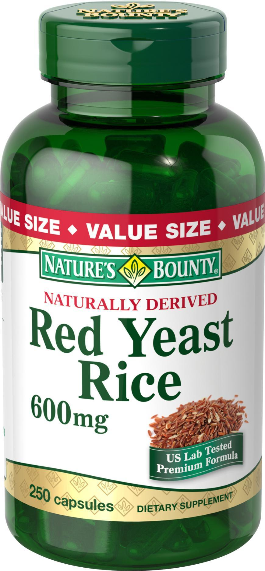 Nature's Bounty Red Yeast Rice, 600 mg