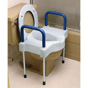 Tall Ette Extra Wide Elevated Toilet Seat With Arms Amp Legs