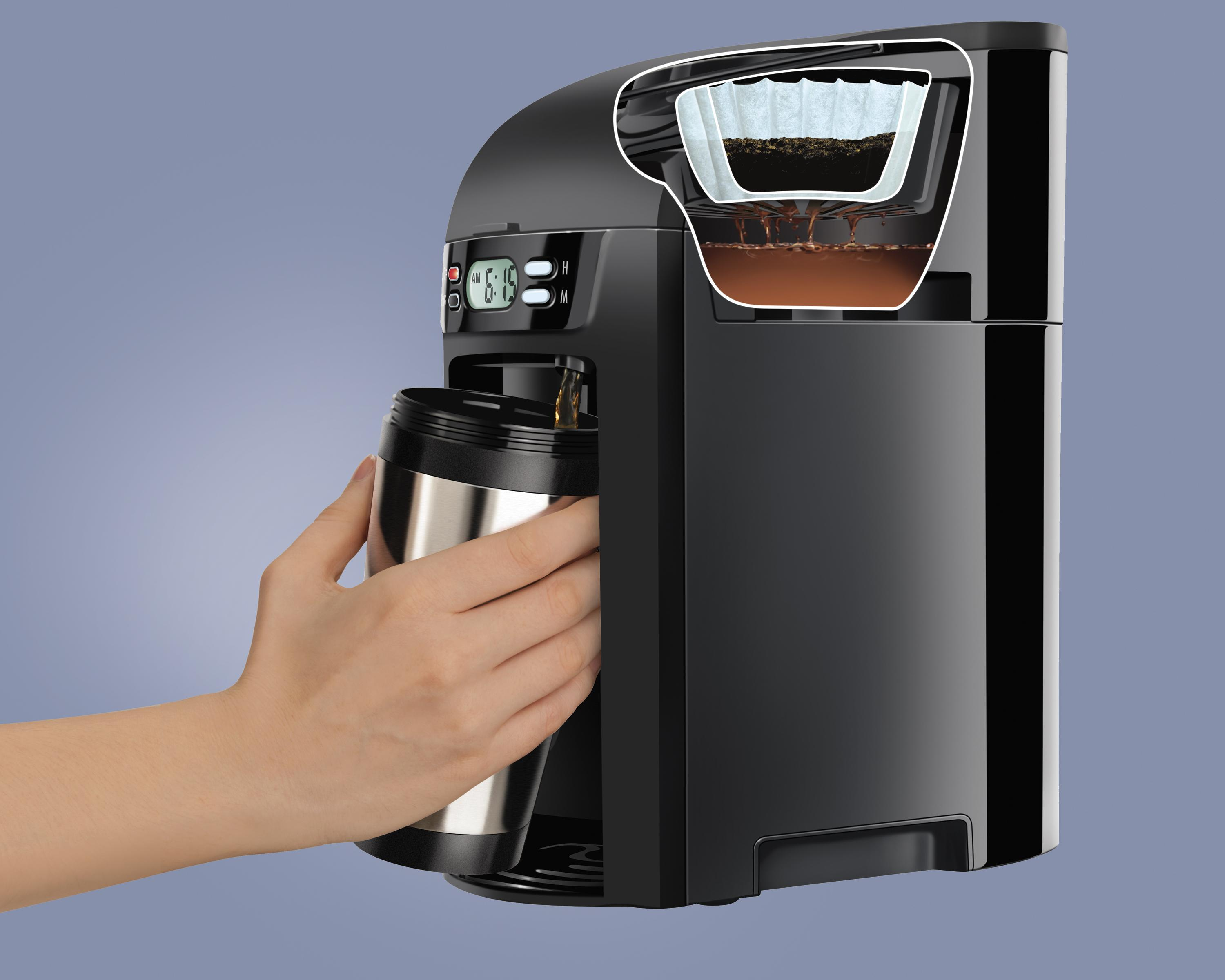 Coffee Maker Without Pot : Amazon.com: Hamilton Beach 6-Cup Coffee Maker, Programmable Brewstation Dispensing Coffee ...