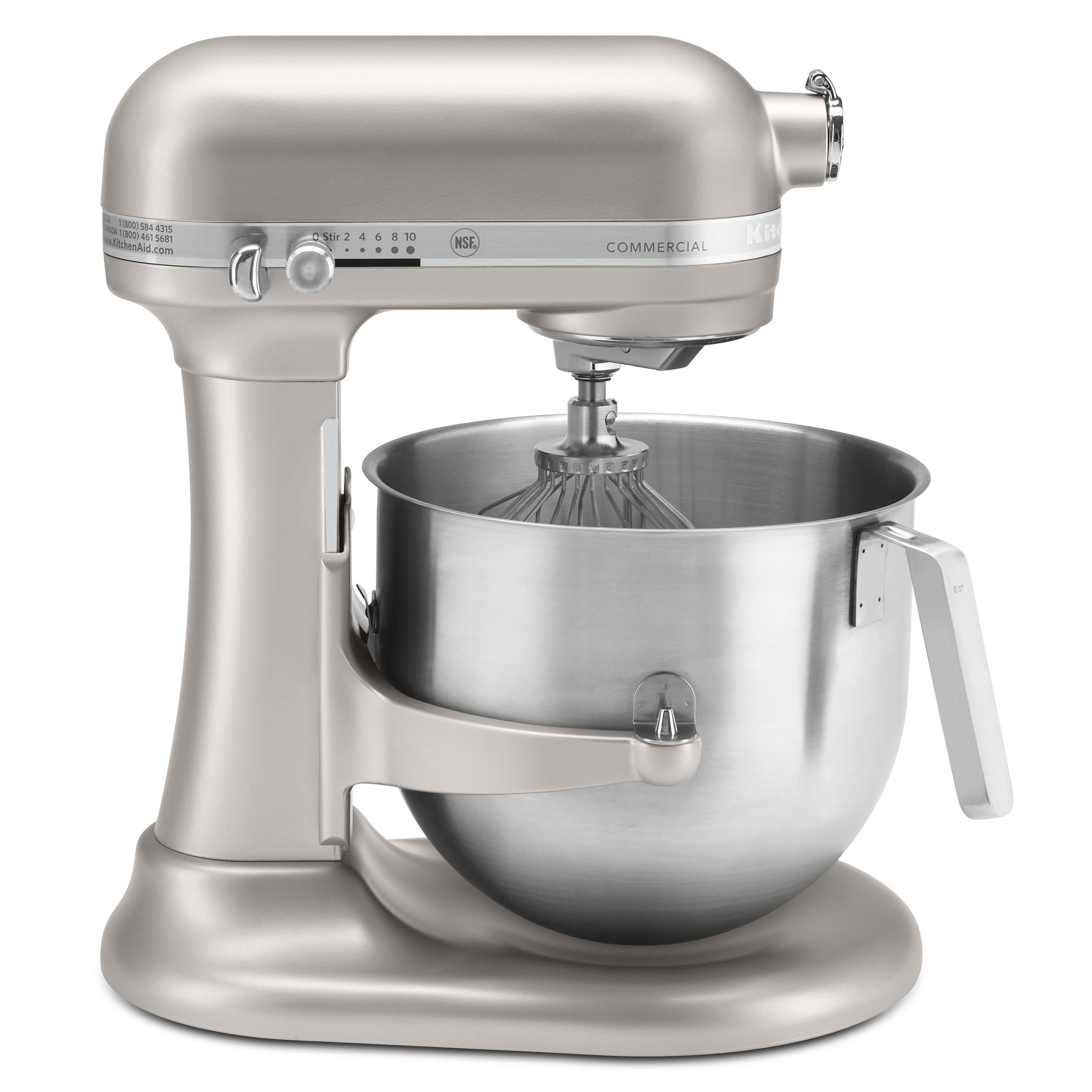 Kitchenaid Ksm8990np Commercial Series Nsf Certified Stand Mixer 8 Quart Nickel