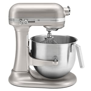 kitchenaid 1 3 hp commercial series nsf certified stand mixer 8 quart nickel ebay. Black Bedroom Furniture Sets. Home Design Ideas