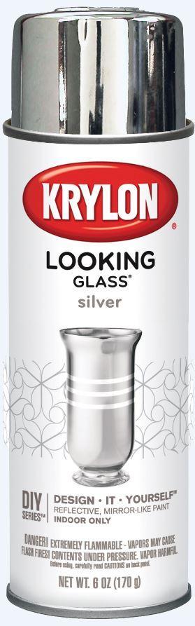 krylon looking glass silver like aerosol spray paint 6 oz. Black Bedroom Furniture Sets. Home Design Ideas