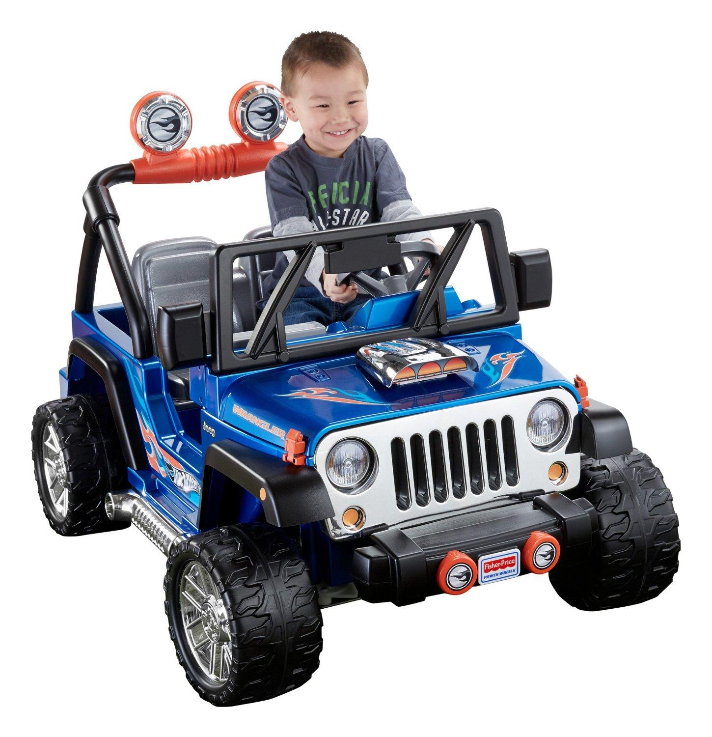 Fisher price power wheels hot wheels jeep for Hot wheels motorized jeep