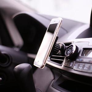 Koomus Magnetos Air Vent Magnetic Cradle-less Smartphone Car Mount