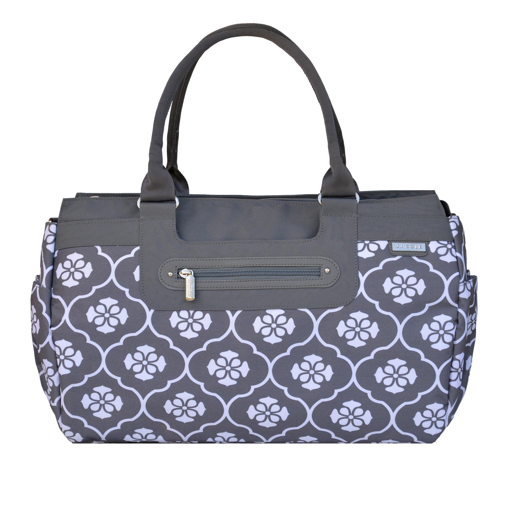 jj cole parker diaper bag gray floret baby. Black Bedroom Furniture Sets. Home Design Ideas
