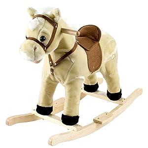 horse, rocking, rocker, animal, saddle, kid