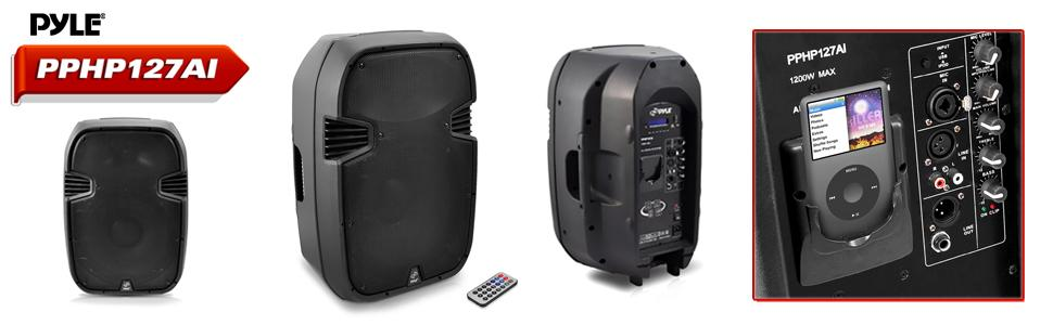 pyle loud speaker pa system portable travel concert event hall auditorium stage garage band music